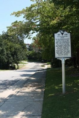 Fair-Rutherford House Marker side, looking east along Washington Street image. Click for full size.