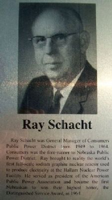 Ray Schacht on Columbus Area Business Hall of Fame Marker image. Click for full size.