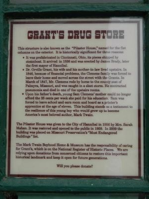 Grant's Drug Store Plaque 1 image. Click for full size.