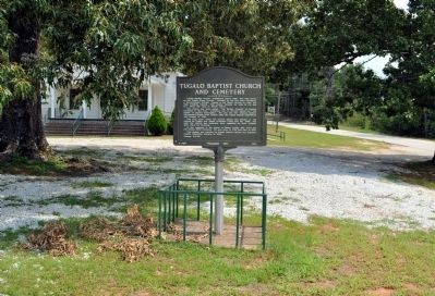 Tugalo Baptist Church and Cemetery Marker image. Click for full size.