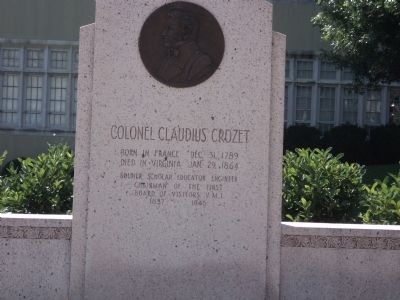 Colonel Claudius Crozet Marker image. Click for full size.