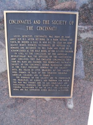 Cincinnatus Citizen-Soldier Marker image. Click for full size.