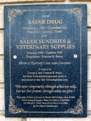 Site of Bauer Drug Marker image. Click for full size.