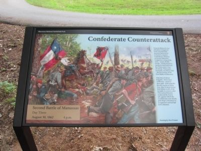 Confederate Counterattack Marker image. Click for full size.