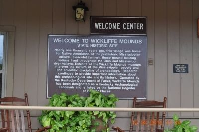 Welcome to Wickliffe Mounds Marker image. Click for full size.