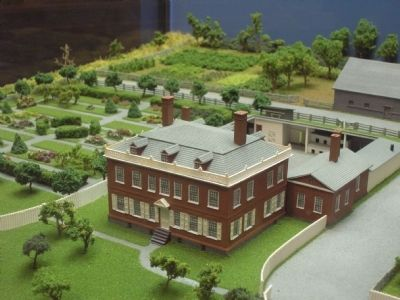 Schuyler Mansion Diorama image. Click for full size.