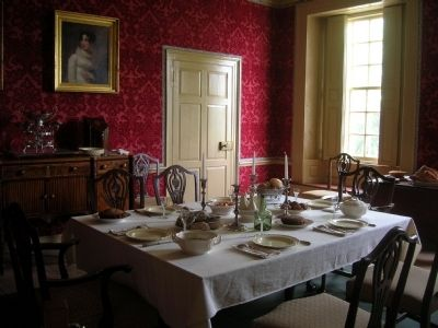 Schuyler Mansion Dining Room image. Click for full size.