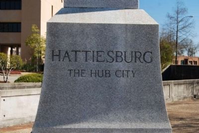 Centennial of Hattiesburg Monument image. Click for full size.