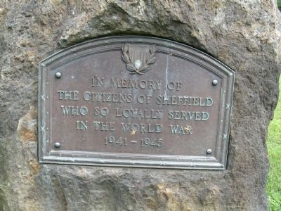 Sheffield World War II Monument image. Click for full size.
