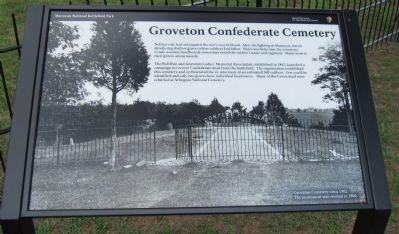 Groveton Confederate Cemetery Marker image. Click for full size.