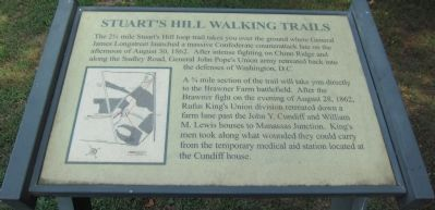 Stuart's Hill Walking Trail Marker image. Click for full size.