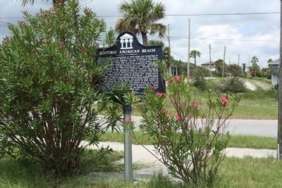 Historic American Beach Marker along Lewis Street image. Click for full size.