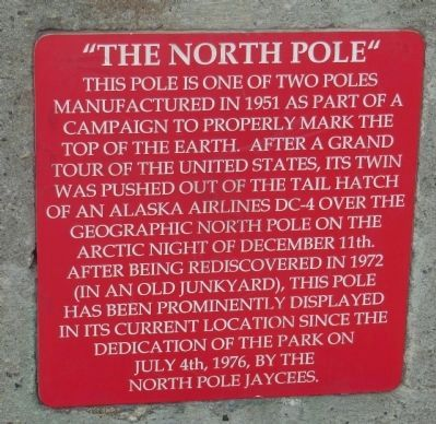 "The ""North Pole"" Marker image. Click for full size."