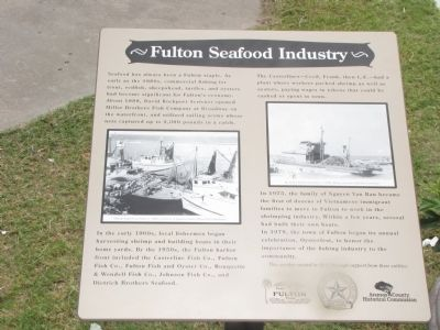 Fulton Seafood Industry Marker image. Click for full size.