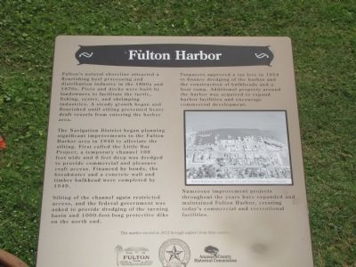 Fulton Harbor Marker image. Click for full size.
