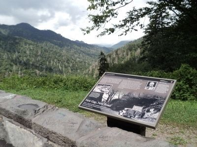 Marker on Newfound Gap Road image. Click for full size.