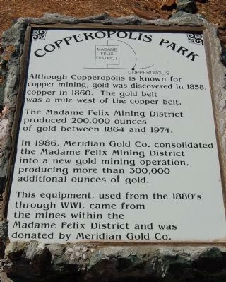 Copperopolis Park Marker image. Click for full size.