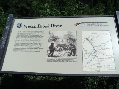 French Broad River Marker image. Click for full size.