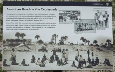 American Beach at the Crossroads Marker image. Click for full size.