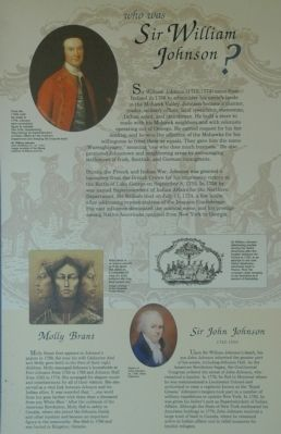 Who Was Sir William Johnson ? Marker image. Click for full size.