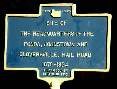 FJ&G Headquarters Marker image. Click for full size.