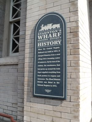 Staunton's Wharf Historic District History Marker image. Click for full size.