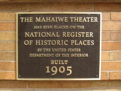 The Mahaiwe Theater Marker image. Click for full size.