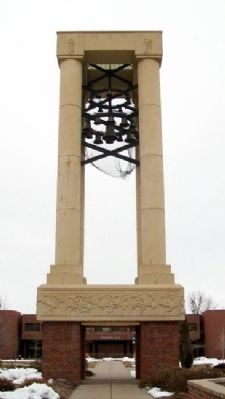 Kearney State College Memorial Carillon Tower image. Click for full size.