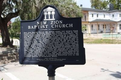 New Zion Baptist Church Marker near Atlantic Avenue image. Click for full size.