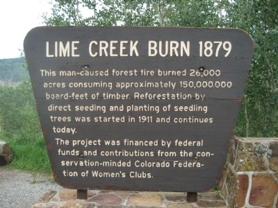 Lime Creek Burn 1879 Marker image. Click for full size.