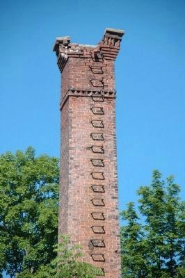 Detail of the Hubbel Chimney in Northville image. Click for full size.