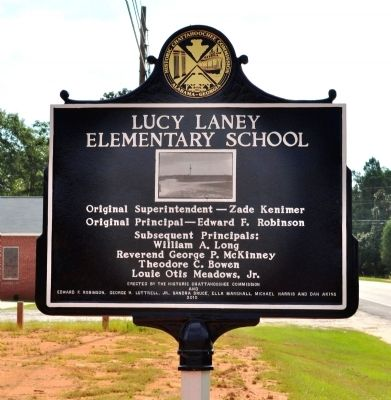 Lucy Laney Elementary School Marker, Side 2 image. Click for full size.