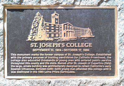 St. Joseph's College Marker image. Click for full size.