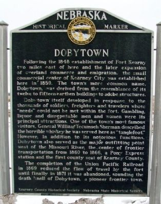 Dobytown Marker image. Click for full size.