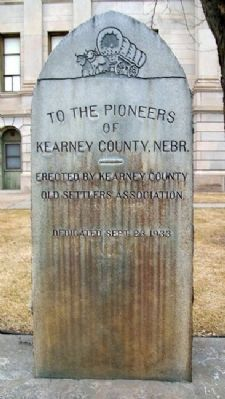 Kearney County Pioneers Monument image. Click for full size.
