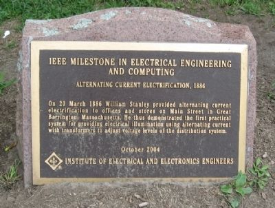 IEEE Milestone Marker image. Click for full size.