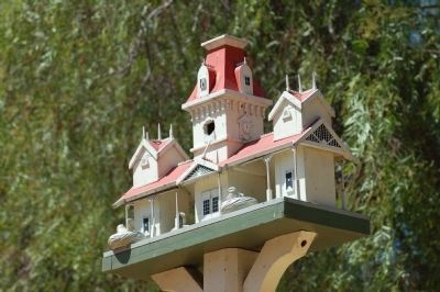 The Old Railroad Station Birdhouse image. Click for full size.