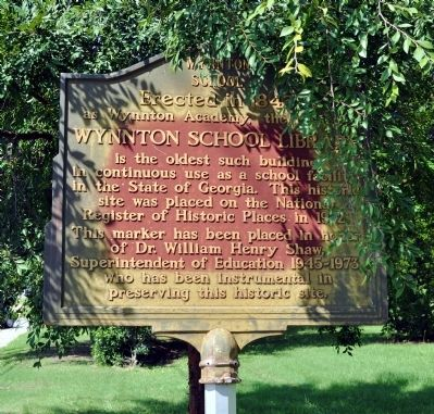 Wynnton School Library Marker image. Click for full size.
