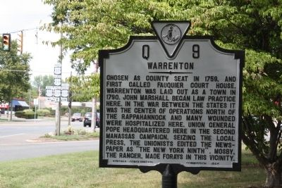 Warrenton Marker image. Click for full size.