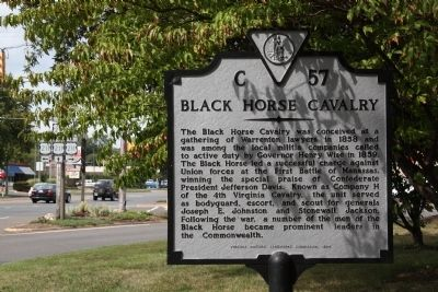 Black Horse Cavalry Marker image. Click for full size.