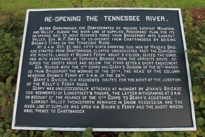 Re-Opening the Tennessee River Marker image. Click for full size.