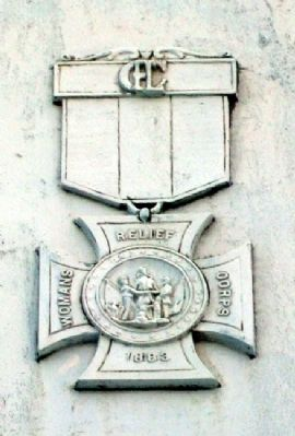 Civil and Spanish-American Wars Memorial W.R.C. Symbol image. Click for full size.