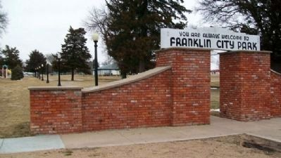 Franklin City Park South Entrance image. Click for full size.