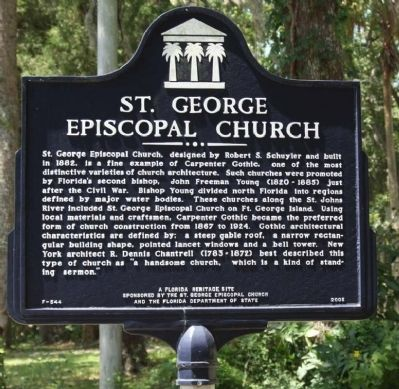St. George Episcopal Church Marker image. Click for full size.