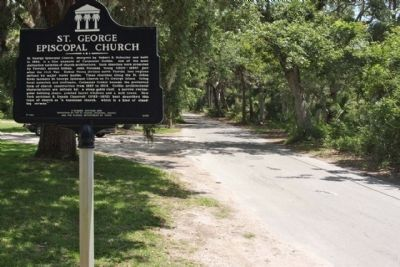 St. George Episcopal Church Marker, looking north along Fort George Road image. Click for full size.