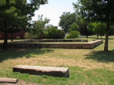 Remnants of Fort Smith's stone wall image. Click for full size.