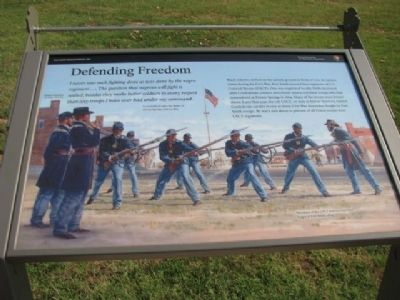 Defending Freedom Marker image. Click for full size.