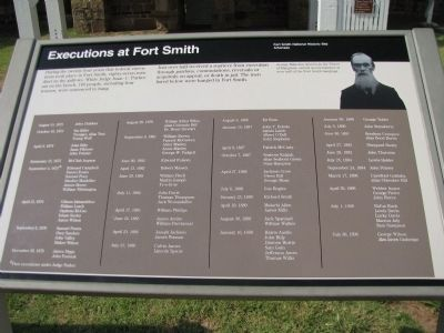 Executions at Fort Smith Marker image. Click for full size.