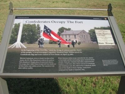 Confederates Occupy The Fort Marker image. Click for full size.
