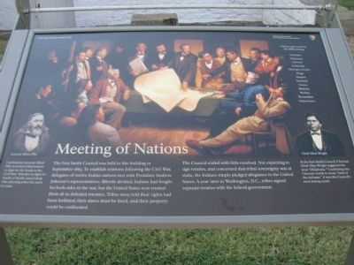 Meeting of Nations Marker image. Click for full size.